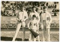 1922-23 Cheerleaders, Robert L. Gilbert on the far left