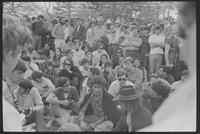 1970 Student Strike Day and Pleasure Fair Photo of Students with Abbie Hoffman