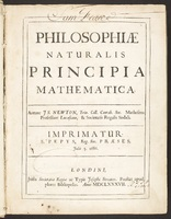 <em>Philosophiæ naturalis principia mathematica</em> [<em>Principia</em>]