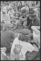 1970 Student Strike Day Photo of students with Abbie Hoffman