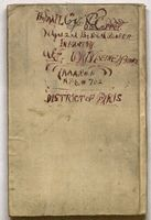 """Corporal Vernon C. Coffey diary containing written account of his military service, beginning with his reporting to Fort Riley, Kansas in 1917. Inside the cover, it is stamped """"A.E.F. passed as censored."""""""