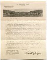 """Letter from Forrest """"Phog"""" Allen, December, 1921"""