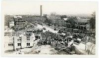 Laying the cornerstone of the Kansas Memorial Union, April 1926
