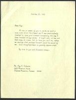 Letter, Helen Spencer to Roy Roberts, October 27, 1965