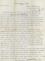 Letter from Professor Edgar H.S. Bailey to his son, Herbert S. Bailey.