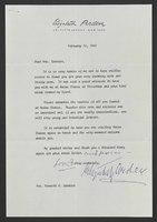 Letter, Elizabeth Arden to Helen Spencer, February 16, 1965