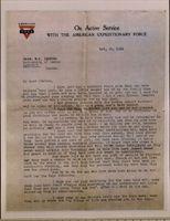 Dr. James Naismith letter to Professor W.C. Stevens