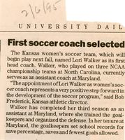 First soccer coach selected