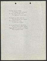 Poem, Helen Spencer to Elizabeth Arden, undated [circa 1965]