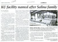 KU facility named after Salina family