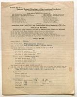 Bulletin No. 41 A, National Society, American Daughters of the Revolution