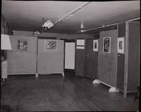 The Little Gallery that Mary Huntoon created to patient artwork.