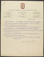 Letter from Dr. Naismith to Chancellor Frank Strong