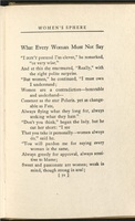 """What Every Woman Must Not Say"" from <em>Are Women People? A Book of Rhymes for Suffrage Times</em>, 1915."