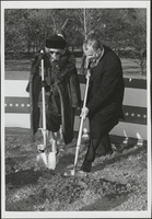 Photograph, groundbreaking ceremony for the Performing Arts Center, University of Missouri-Kansas City, undated [1976] [reproduction]