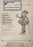 Cover of <em>The Gee-Gee's Mother Goose</em>, 1912.