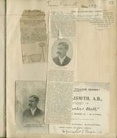Athletics scrapbook pertaining to Professor Barnjum, 1864-1909
