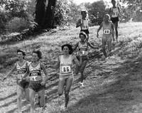 Team during a race down a hill