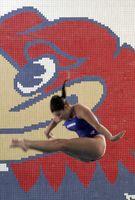 Shelby Noonan preforming a dive