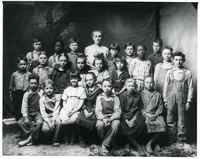 Grade School Class, early 1900s, Hoxie, Kansas.