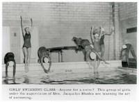 Girls Swimming Class, 1960.