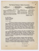 Letter from Dr. F. H. Ewerhardt, NCAA Vice-President, December 12, 1938