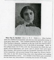 Miss May E. Gardner, THE GRADUATE MAGAZINE