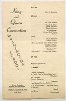 King and Queen Coronation, Washington School.