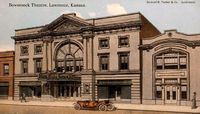 Bowersock Theatre, ca. 1912. Today the theater is known as Liberty Hall.<br />Image courtesy of Watkins Museum of History