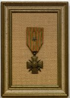 French Croix de Guerre medal awarded to Deane Ackers.