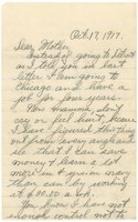 Robert Leigh Gilbert letter to his mother, October 17, 1917