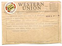 Telegram to Charles Scott from Thurgood Marshall, April 6, 1955.