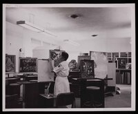 Mary Huntoon in the Winter Veterans Administration Hospital Art Clinic, Topeka, Kansas.