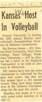 Kansas Host in Volleyball