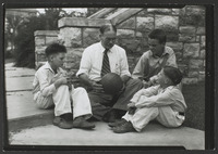 Dr. Naismith with his grandsons