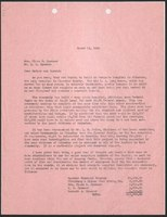Letter, Kenneth Spencer to his mother Clara and brother Harold, March 13, 1950