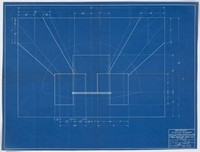 Plans for a practice backboard showing shooting diagrams, April 6, 1939