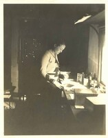 Mary Huntoon in her etching studio in Paris.