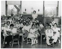 Ms. Lois Abbott's Kindergarten Class, 1955.