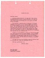 Kenneth Spencer's Christmas letter to Anne, December 21, 1948.