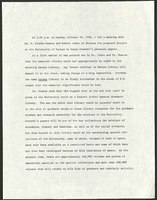 Meeting summary, likely written by Helen Spencer or her secretary Anne Reilly, October 1964