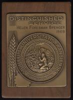 Distinguished Service award, given to Helen Spencer, June 3, 1968