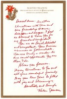 Helen Spencer's Christmas letter to Anne, undated.