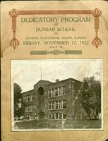 Dunbar School Dedication Program, November 17, 1922, Salina, Kansas.