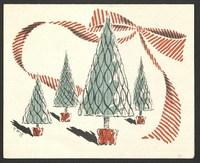 Christmas card, Kenneth Spencer to Helen Spencer, December 25, 1949