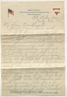 Letter written by William Hayden to his grandparents, detailing his early experience at Fort Riley.