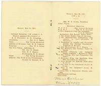 Program, Kansas Equal Suffrage Association, Thirtieth Annual Convention, May 19-20, 1913