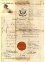 Henrietta (Peggy) Goodnough Hull's passport, 1917