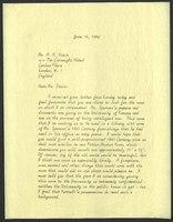Letter, Helen Spencer to Alastair A. Stair, antique English furniture dealer, June 16, 1964
