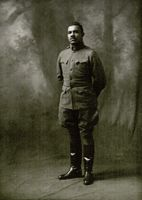 Lt. M. R. Perry, Fort Riley, Kansas, 1918